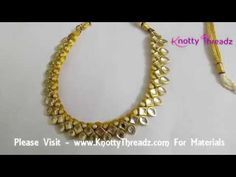 Handmade Kundan Necklace | Designer Kundan Choker | Ethnic Wear | Beginners | www.knottythreadz.com - YouTube