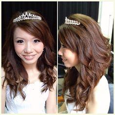 Prewedding makeup & hairdo, bride Li Yen #hair #curl