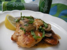 Appletiser Chicken:  Cream of mushroom dry packet to bread, pan browned and thickened with a 100% apple juice soda.