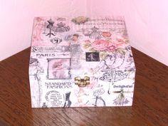 boîte à bijoux en bois vintage : Boîtes, coffrets par idees-cadeaux-d-ameline