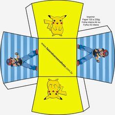 Pokemon: Cajas para Imprimir Gratis.
