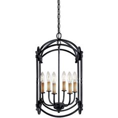 $170  World Imports Hastings Collection 6-light Hanging Lantern