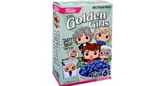 """A new cereal pays tribute to a sitcom. A """"Golden Girls""""-themed cereal will be sold in select Targets and online stores and each box comes with a collectible figurine inside. Funko Pop Dolls, Funko Pop Figures, Golden Girls, New Cereal, Kawaii Doodles, Jane The Virgin, Multigrain, Collectible Figurines, Girl Quotes"""