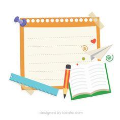 Free paper clip arts for kids School Days Images, School Pictures, Education Clipart, Free Education, Teachers Day Card, Parents As Teachers, Paper Clip Art, Kids Planner, Doodle Books
