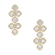 kate spade | designer earrings - kate spade earrings pave surround chandelier