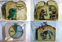 And the dad who draws incredible illustrations on his kid's sandwich bags.