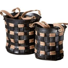 CBK 2 Piece Recycled Tire Nested Basket Set