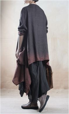 Linen Dress and Jacket Set ( Two Piece) in Black and Brown – Lily & Co.