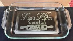 Personalized Etched 9x13 baking dish