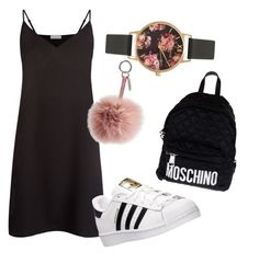 """""""Untitled #507"""" by heden-fun ❤ liked on Polyvore featuring Sandro, Olivia Burton, Fendi, Moschino and adidas"""