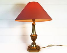 Large French Victorian Bronze Table  Lamp - I love the base on this lamp and the shape of the shade. But, the shade is a bit too orange for a good match