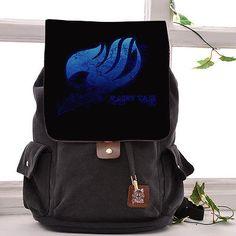 Anime FAIRY TAIL Natsu Canvas Backpack Rucksack Shoulder bag Schoolbag Satchel