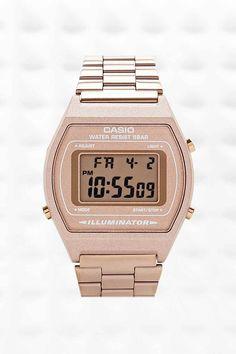 Casio Digital Watch in Bronze - Urban Outfitters