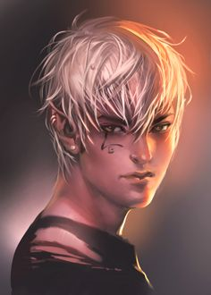 shadowrun; male; elf; blond; young