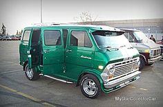 The Green Van Appreciation Society Dodge Van, Chevy Van, Customised Vans, Custom Vans, Station Wagon, Van Dwelling, Camper, Old School Vans, Power Bike