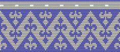 dit patroon is niet zelf ontworpen, maar het patroon verbreed zodat het bij bodem ; France lelie past. 104 steken .