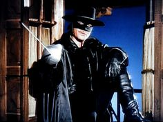 """Disney's Zorro, as played by the inimitable Guy Williams.  He just oozed """"cool""""."""
