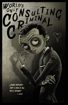 This looks just like a Tim Burton drawing. Aaaand now Moriarty is even creepier