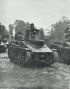 Latvian Vickers tank