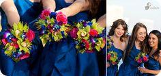 Blue Green Pink Purple Bouquet Spring Summer Wedding Flowers Photos & Pictures - WeddingWire.com