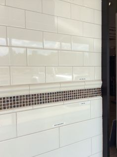 hall bath subway tile different sizes