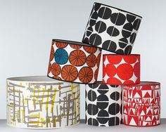 hand print lampshades by MintprintStore on Etsy