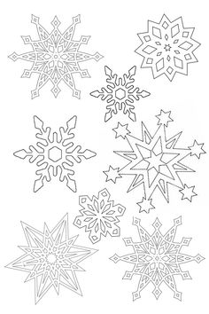 Illustration Noel, Illustrations, Christmas Themes, Christmas Crafts, Snowflake Coloring Pages, Winter Wonderland Wedding Theme, Yule Decorations, Mountain Crafts, Snowflake Template