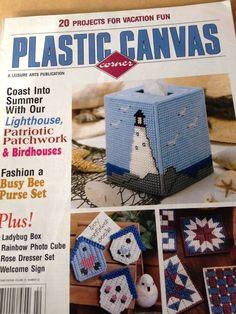 PLASTIC CANVAS CORNER 1999 Leisure Arts Publication July issue LIGHTHOUSE  HTF #Leisurearts