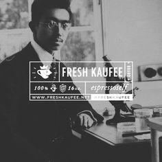 {Fresh Kaufee} Sticker inspiration. Layout and info