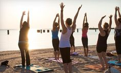 Groupon - 20 Beach Yoga Classes or a Season Pass for Unlimited Classes and Workshops at Sun and Moon Beach Yoga (Up to 80% Off). Groupon deal price: $45.00