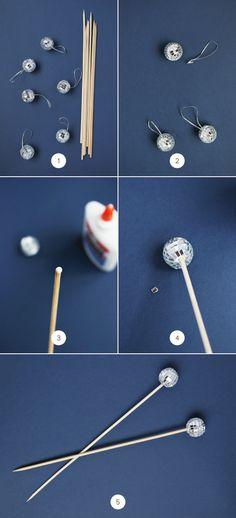 Snazzy Swizzle Sticks: DIY Disco Ball Drink Stirrers   Julep