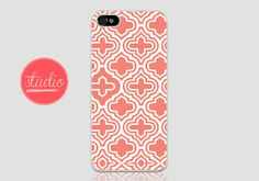 CORAL GEOMETRIC Pattern - iPhone 4, iPhone4s, iPhone 5, iPhone 5s Case  #geometric #geometriciphone #geometriciphonecase #pastelcase #pastel #pasteliphonecase #coral #coraliphonecase #mintiphone #gatsby #white #iphone5 #iphone4