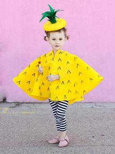 süßes Ananas-Kostüm für kleines Mädchen selber machen