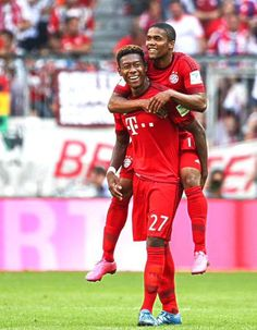 Soccer ... FC Bayern München ... Alaba and Costa