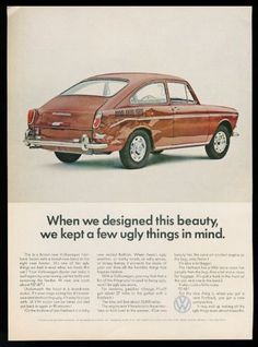 1967-VW-Volkswagen-Type-3-orange-Fastback-car-photo-vintage-print-ad