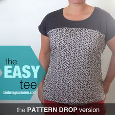 the easy tee {the anthropology lace front version + FREE raglan pattern}