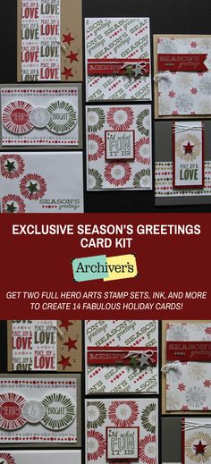 Get two stamp sets, inks, and other supplies to make 14 cards (and see bonus ideas, too) with this kit you'll only find at Archiver's!