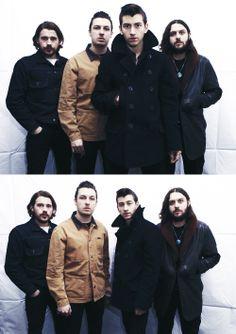 Arctic Monkeys. collar popped like antennea :)