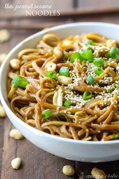 Thai Peanut Sesame Noodles are such a simple dish but packed with so much amazing flavor!