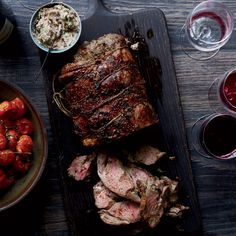 This best-ever leg of lamb from Food & Wine is stuffed with butter packed with chopped olives.