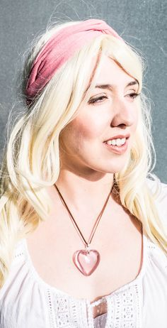 See-through-ballerina pink #heart #pendant on #leather #bohonecklace and matching #twist #turban #headband <3  #music #fashionblogger #hippie #boholook #bohochic #gypsy #jewelry #bohobabe #slavejewelry #chains #freespirit #modelling #onset #beauty #fashion #summer #freedom #openroad #adventure #wanderlust