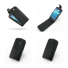 PDair Leather Case for Samsung Galaxy S4 Mini GT-i9190 - Flip Top Type (Black)