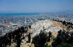 Athens in the Philopapou hill with a vew to Phaliro and the sea Us Border, Grand Canyon, Greece, The Past, Sea, Mountains, City, Pictures, Travel