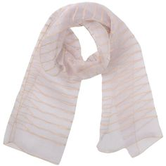 Armani Collezioni Oblong Scarf (€230) ❤ liked on Polyvore featuring accessories, scarves, light pink, embroidered scarves, long shawl, striped scarves, oblong scarves and long scarves