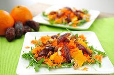 Wortelsalade met dadel en sinaasappel