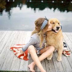 Family photography ideas - child and dog via irecallthepushmorethanthefall