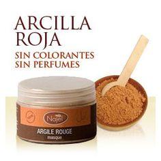 Arcilla Roja 100gr. Para preparar mascarillas faciales, recomendable para pieles con acné. > www.HerbolarioEcologico.com