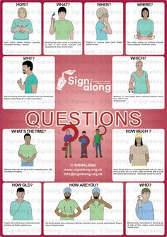 Questions Poster, J) Posters, Signalong Store