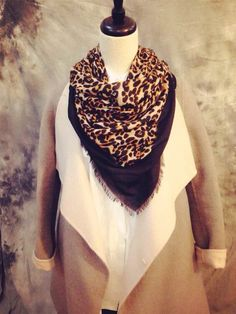 Find More Scarves Information about New Winter Sexy Leopard Silk Wool High Quality Design Tessel Brown Scarf Brown Pashmina ,High Quality Scarves from Jane's Market on Aliexpress.com