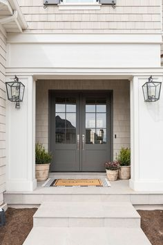 home remodel exterior curb appeal Exterior Paint Colors, Exterior House Colors, Exterior Design, Stone Exterior Houses, Exterior Paint Schemes, Front Door Paint Colors, Grey Exterior, Stone Houses, One Photo